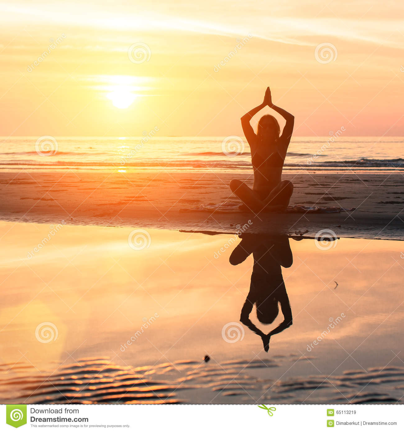 Yoga And Healthy Lifestyle Stock Image Image Of Meditative Peaceful 65113219
