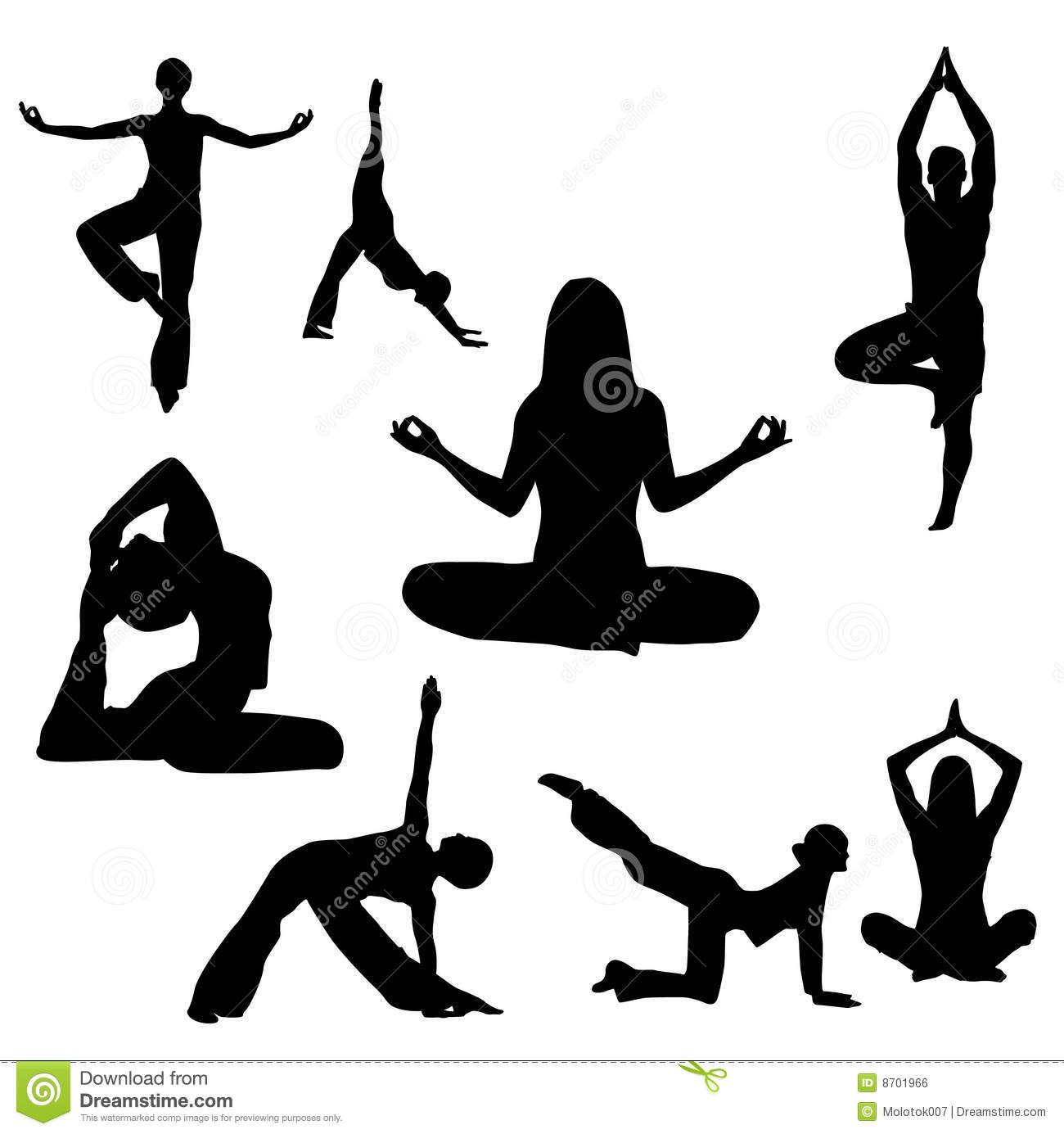 Yoga Illustration Royalty Free Stock Image - Image: 8701966