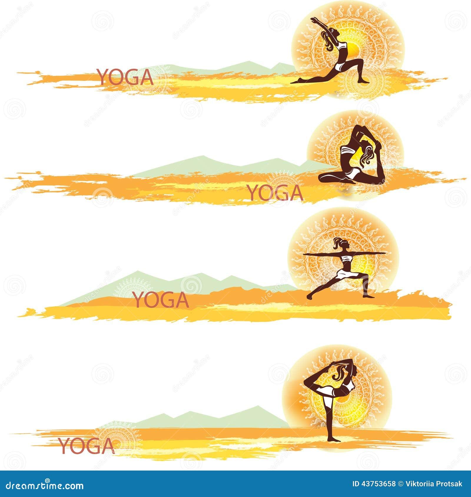 Yoga Insieme delle bandiere