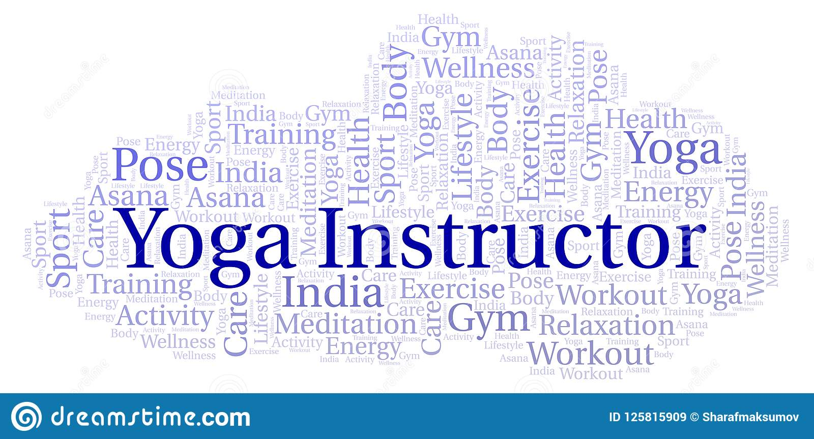 Yoga Instructor Word Cloud Stock Illustration Illustration Of