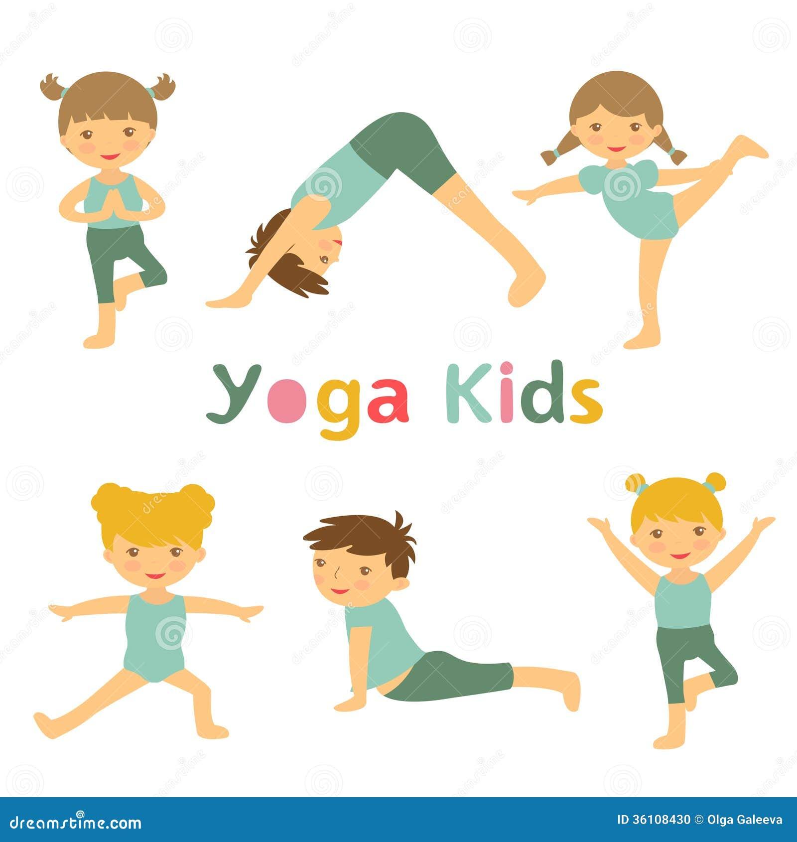 Yoga Kids Stock Photo - Image: 36108430