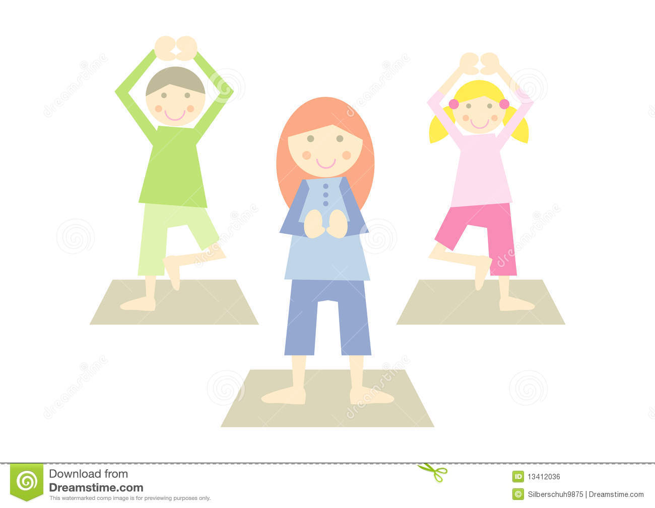 Yoga Kids IV Stock Vector Illustration Of Exercise