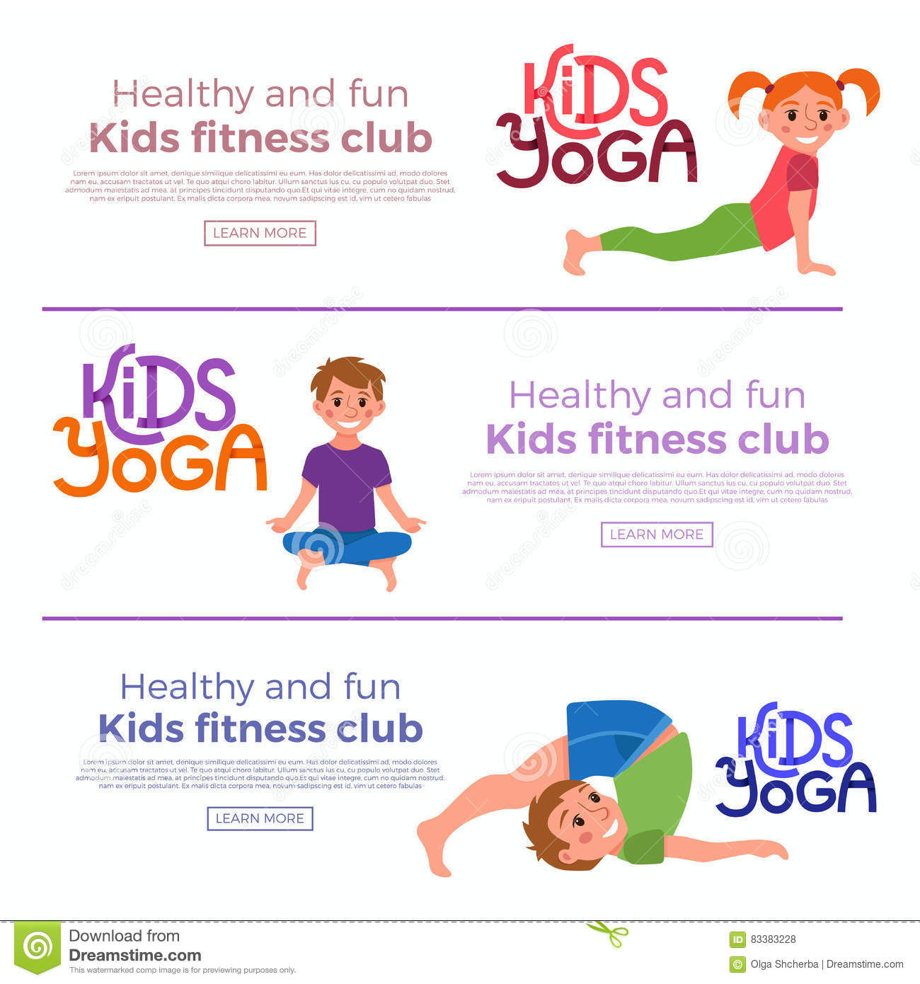 Download Yoga Kids Poses Stock Vector Illustration Of Healthy