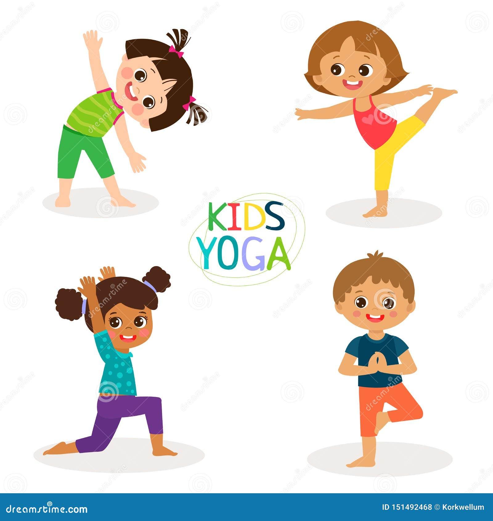 Yoga Poses Kids Stock Illustrations 273 Yoga Poses Kids Stock Illustrations Vectors Clipart Dreamstime