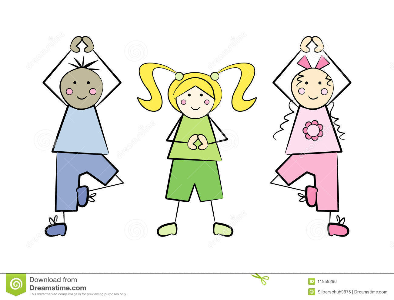 Yoga-Kinder vektor abbildung. Illustration von nett ...