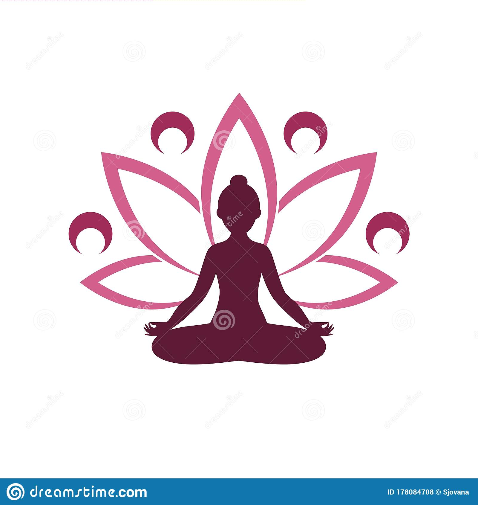 yoga logo design human meditation in lotus flower icon isolated on white background stock vector illustration of business fitness 178084708 dreamstime com