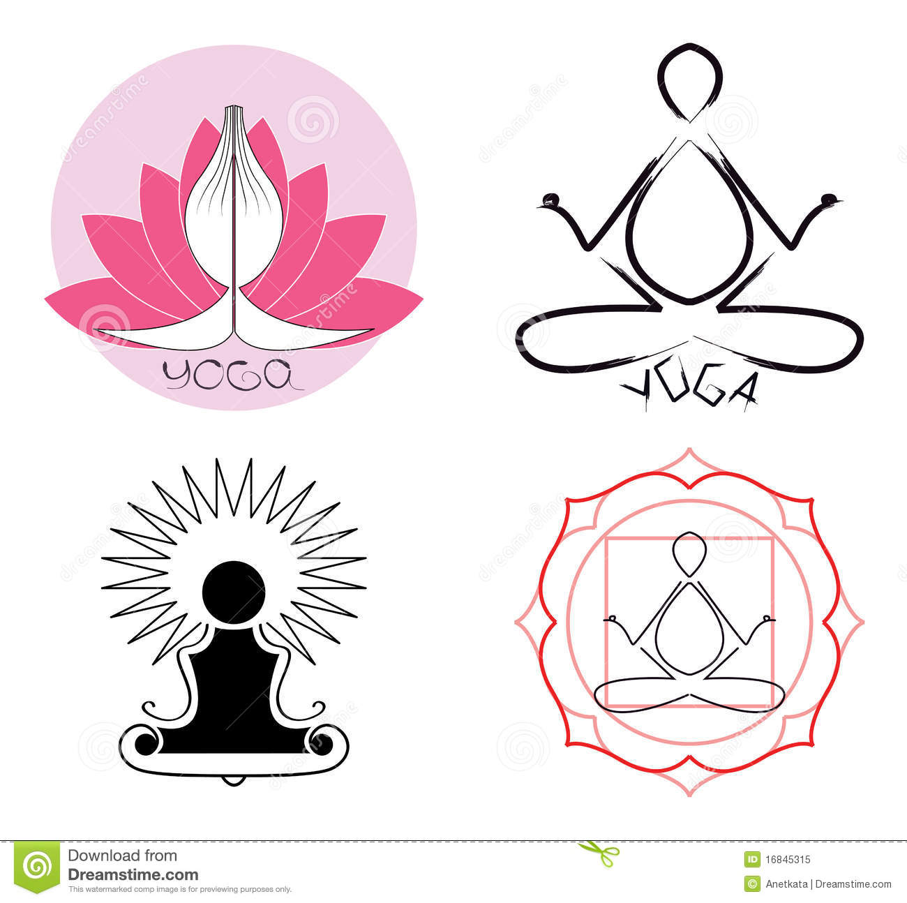 Yoga Logo Ideas Stock Vector Illustration Of Asana Meditation