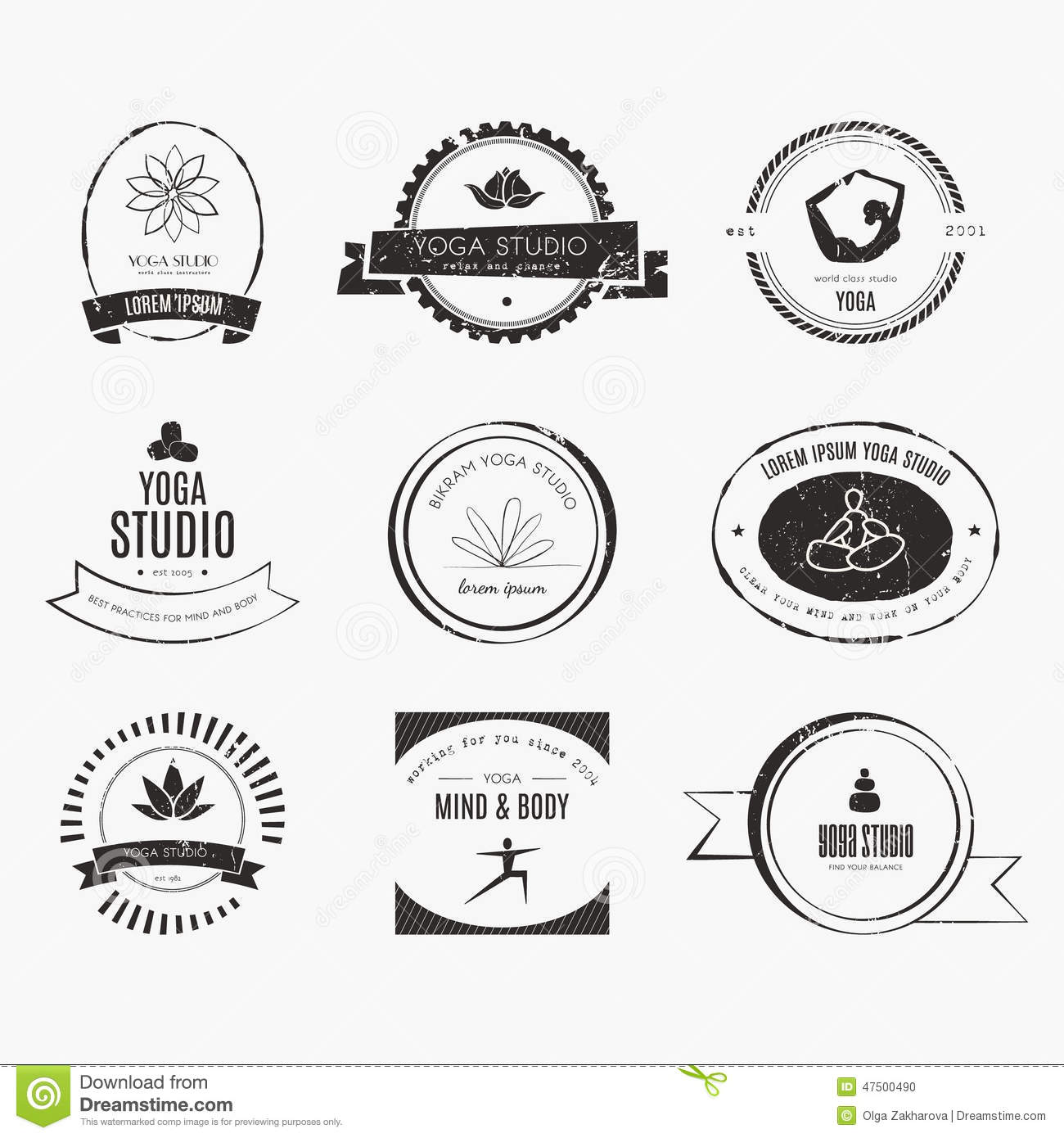 Modern Classroom Vector : Yoga logotypes collection stock vector image