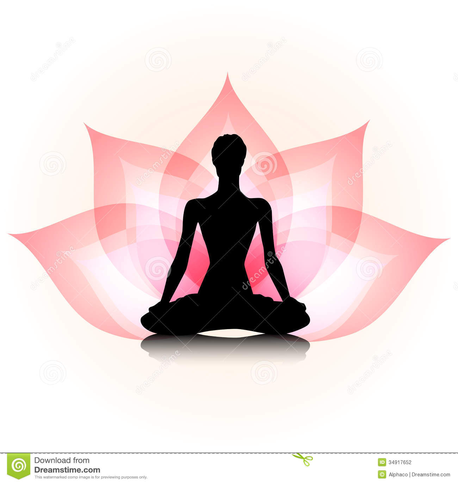 Yoga-Lotus Stock Fotografie - Afbeelding: 34917652