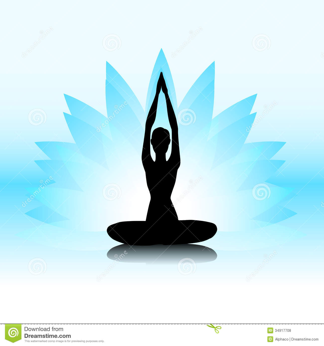 Yoga-lotus Royalty Free Stock