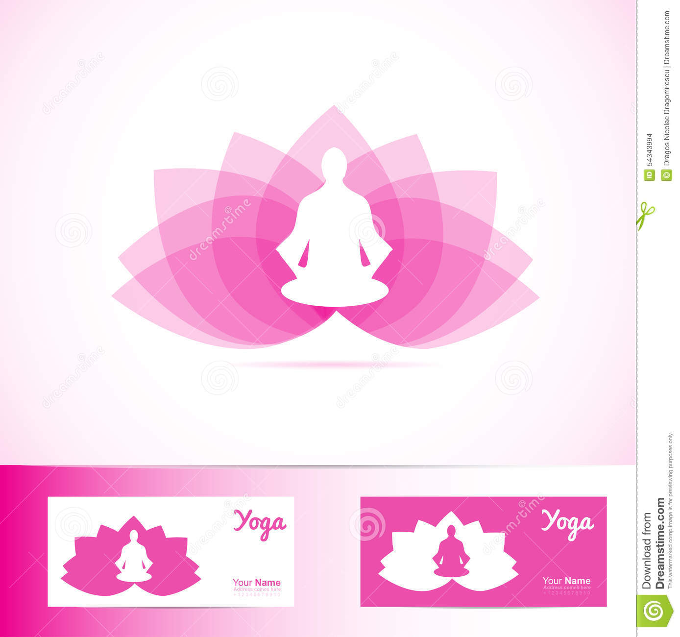 yoga lotus flower meditation man logo shape stock vector image