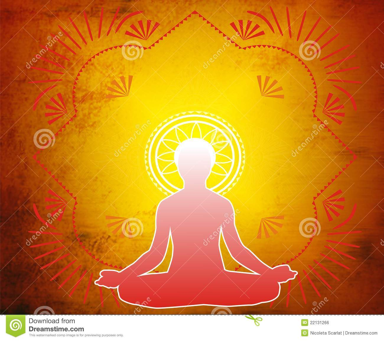 Yoga-Lotus Meditation Royalty Free Stock Image - Image ...
