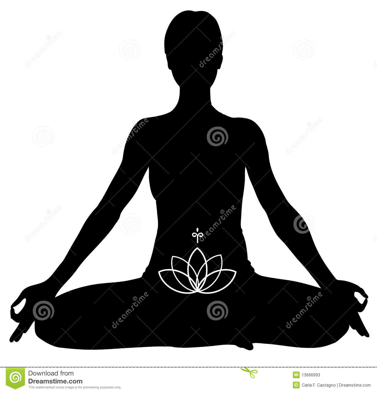 YOGA Lotus pose Stock Photos