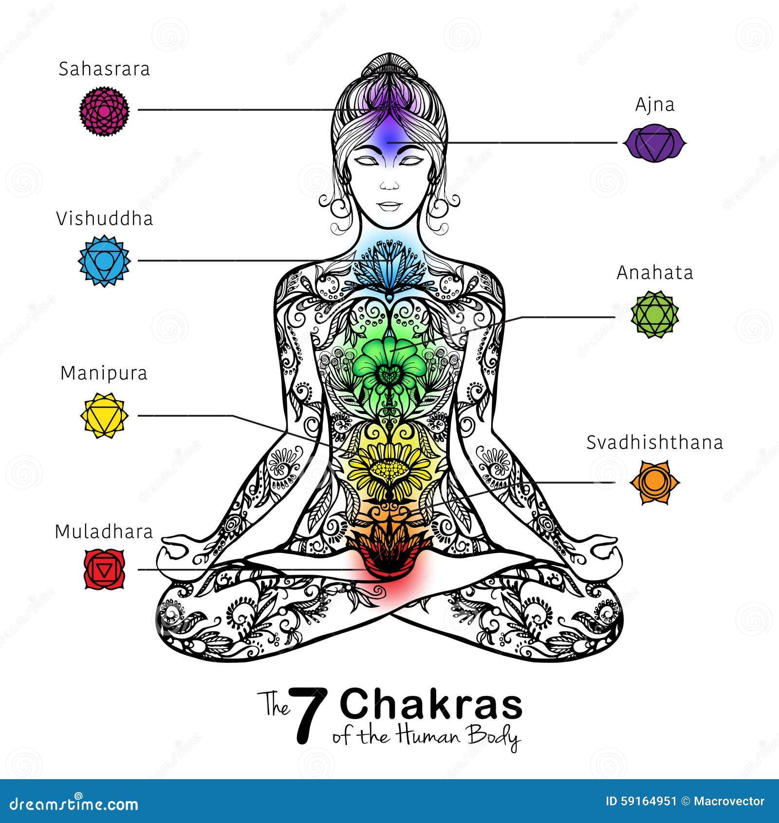 Yoga Lotus Pose Meditating Woman Icon Stock Vector Image