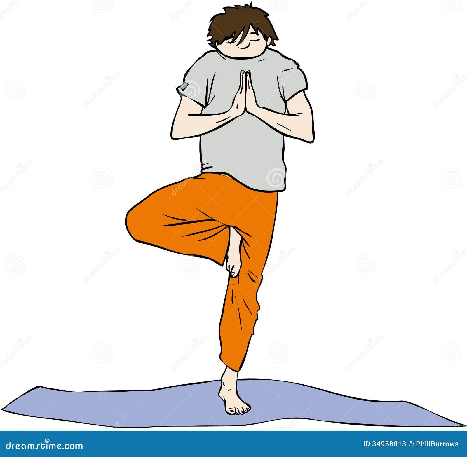 Yoga Man Stock Photos Image 34958013