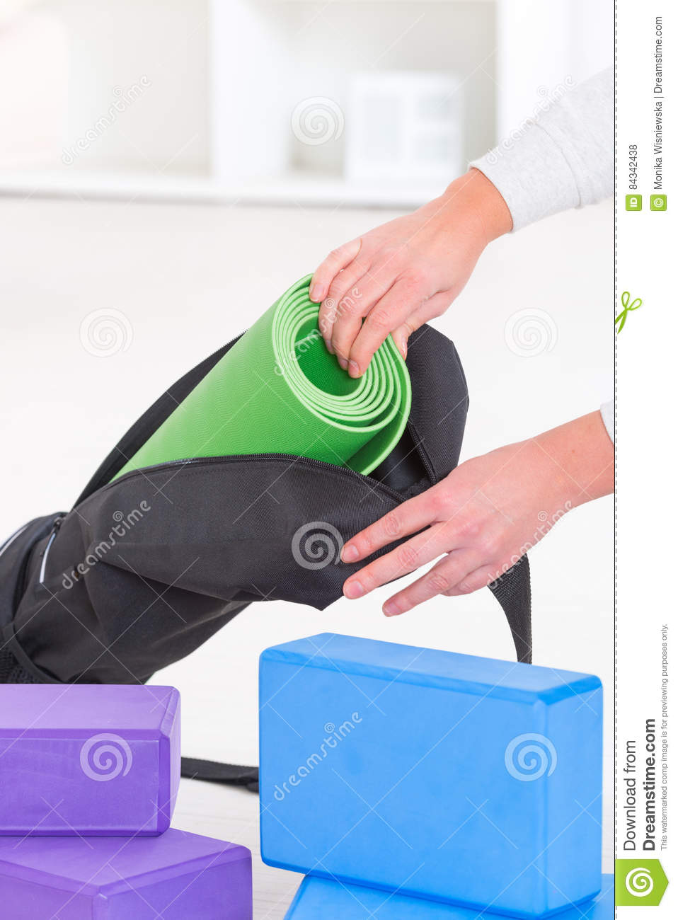 Yoga Mat Inside A Special Yoga Bag Stock Photo - Image of leisure ... 832fd187deb1d