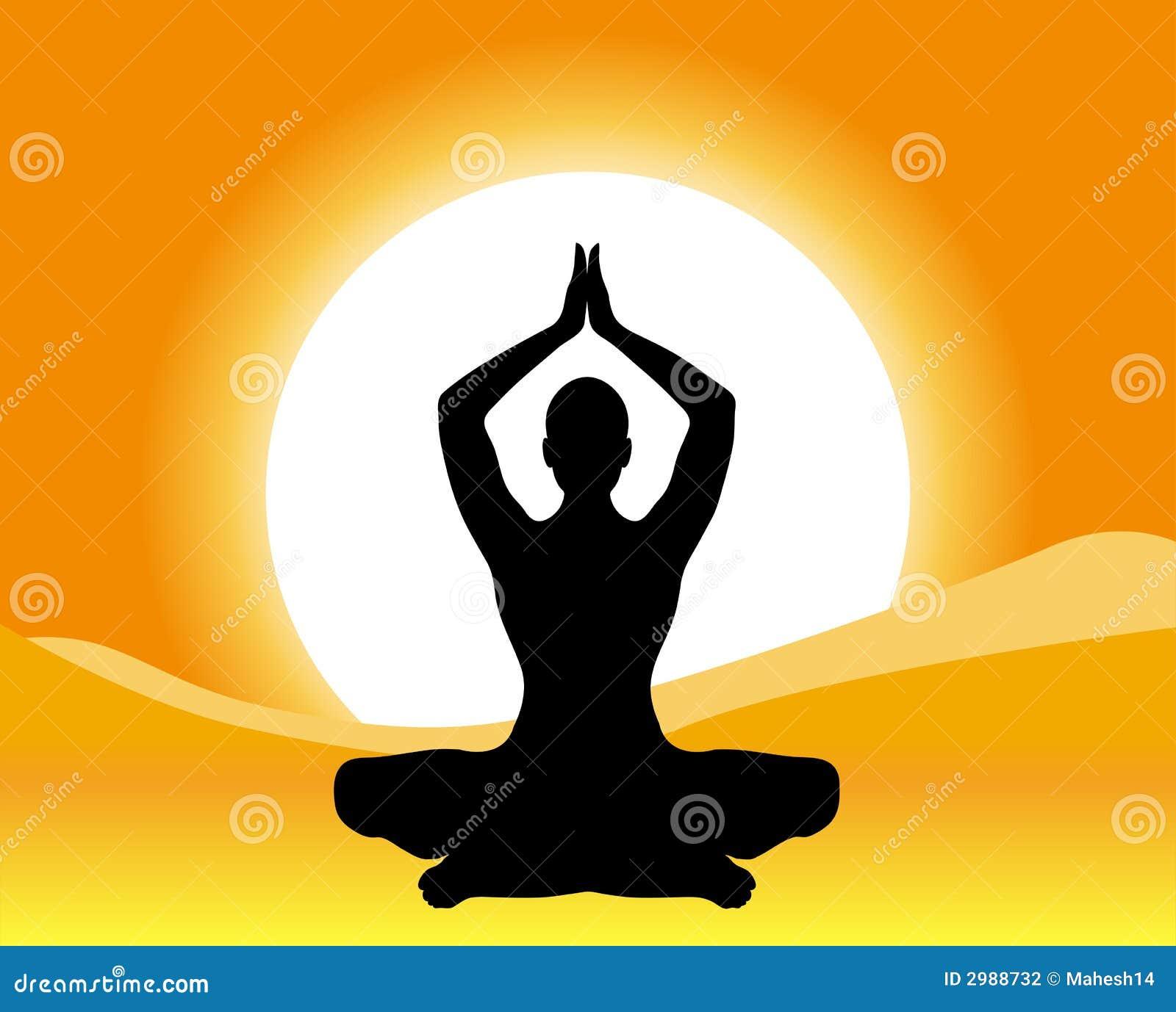Silhouette Illustration Of Yoga