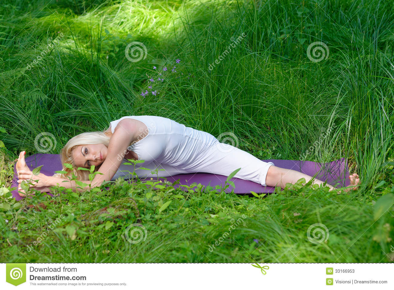 Yoga In Nature Stock Photos - Image: 33166953
