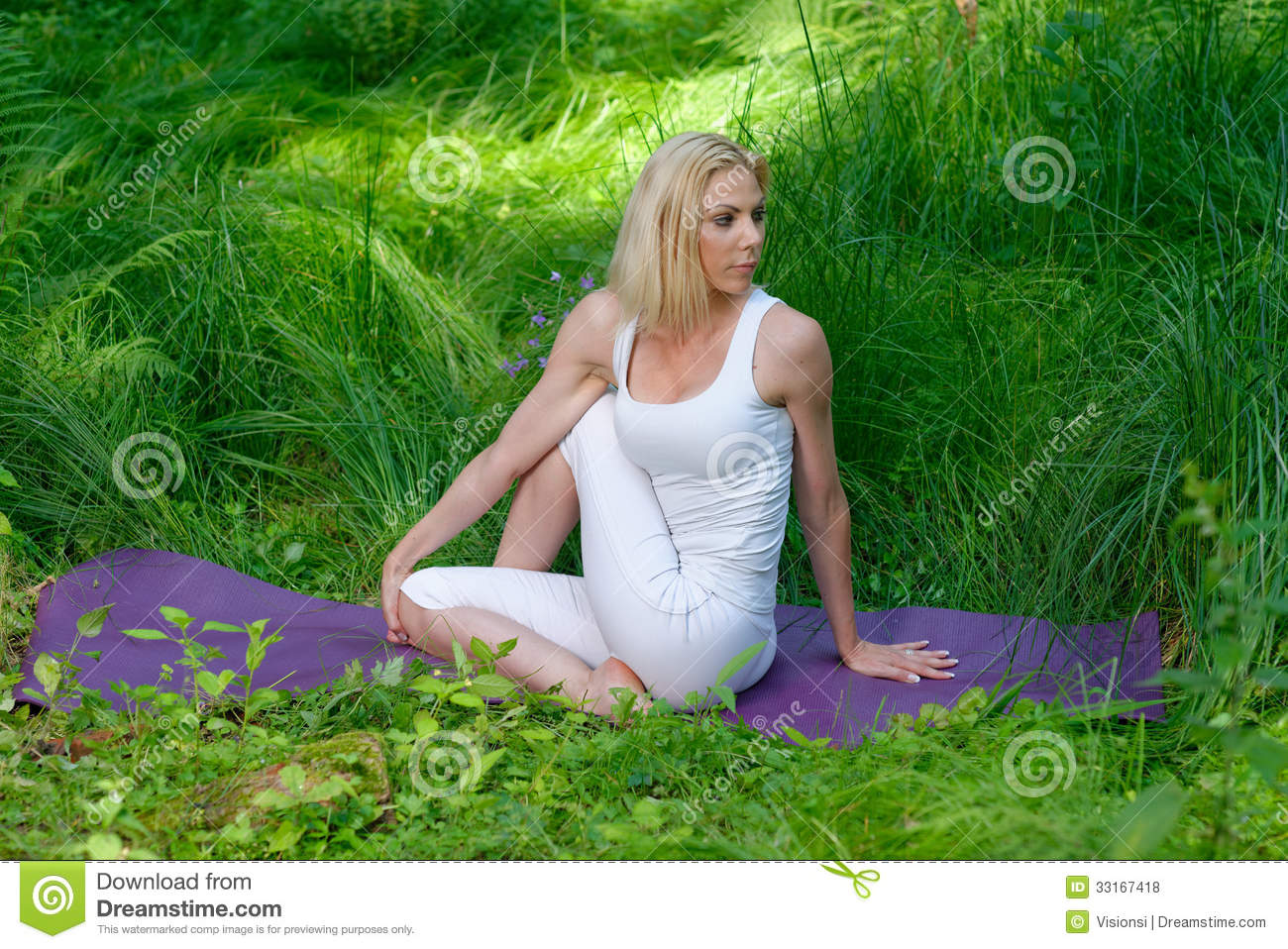Yoga In Nature Royalty Free Stock Photos - Image: 33167418