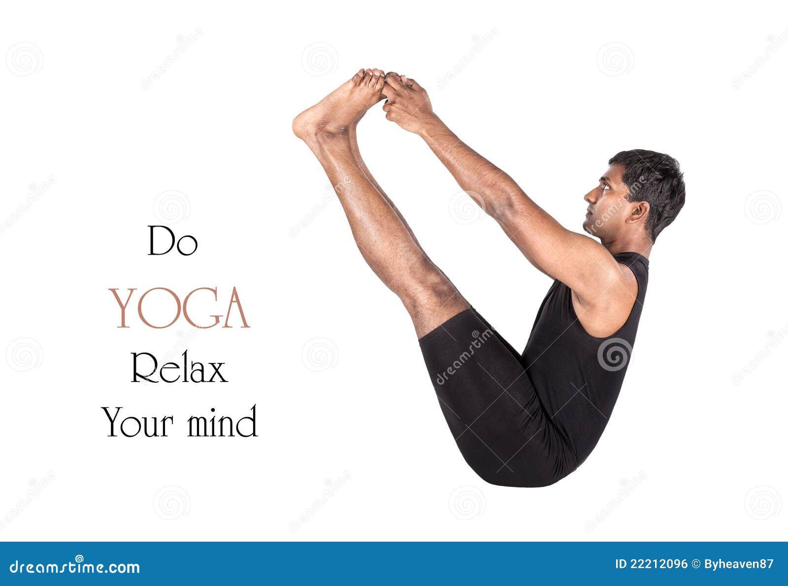 Yoga Naukasana Boat Pose Stock Photo Image Of Black