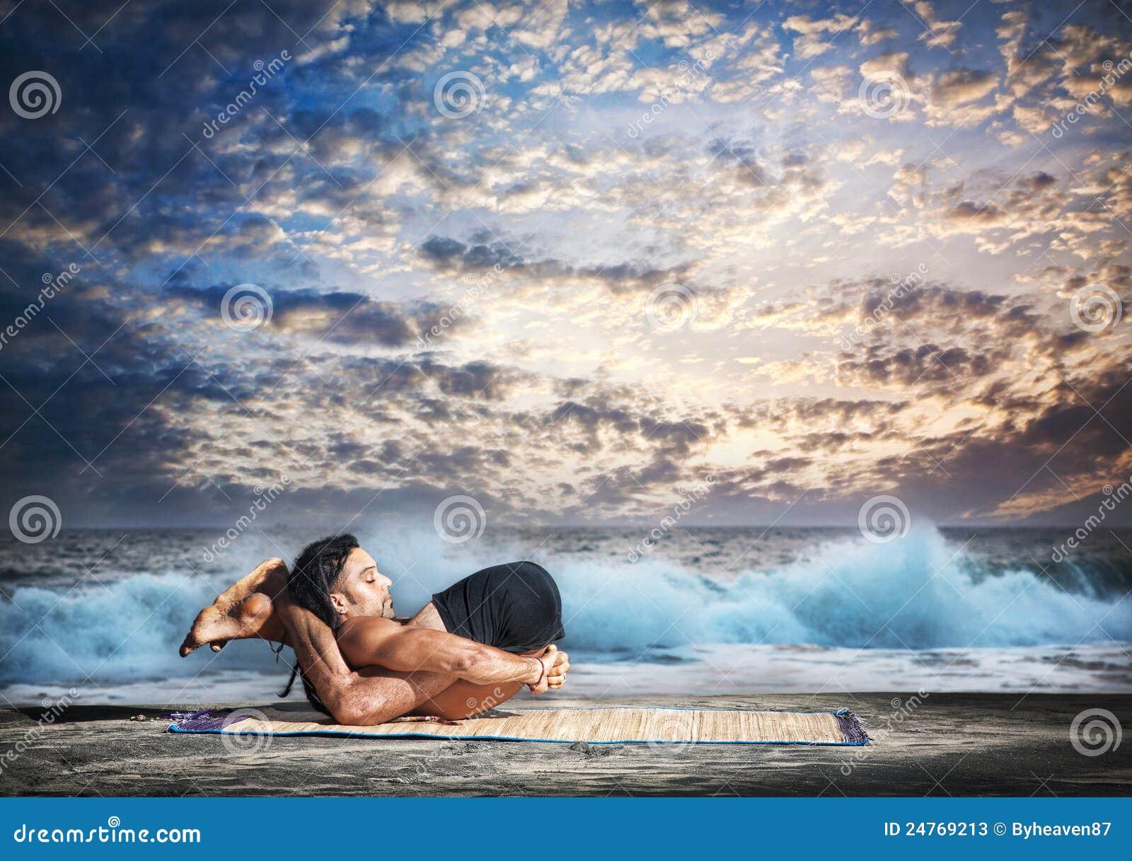 Yoga Nidrasana Yogic Sleep Pose Stock Photos - Image: 24769213
