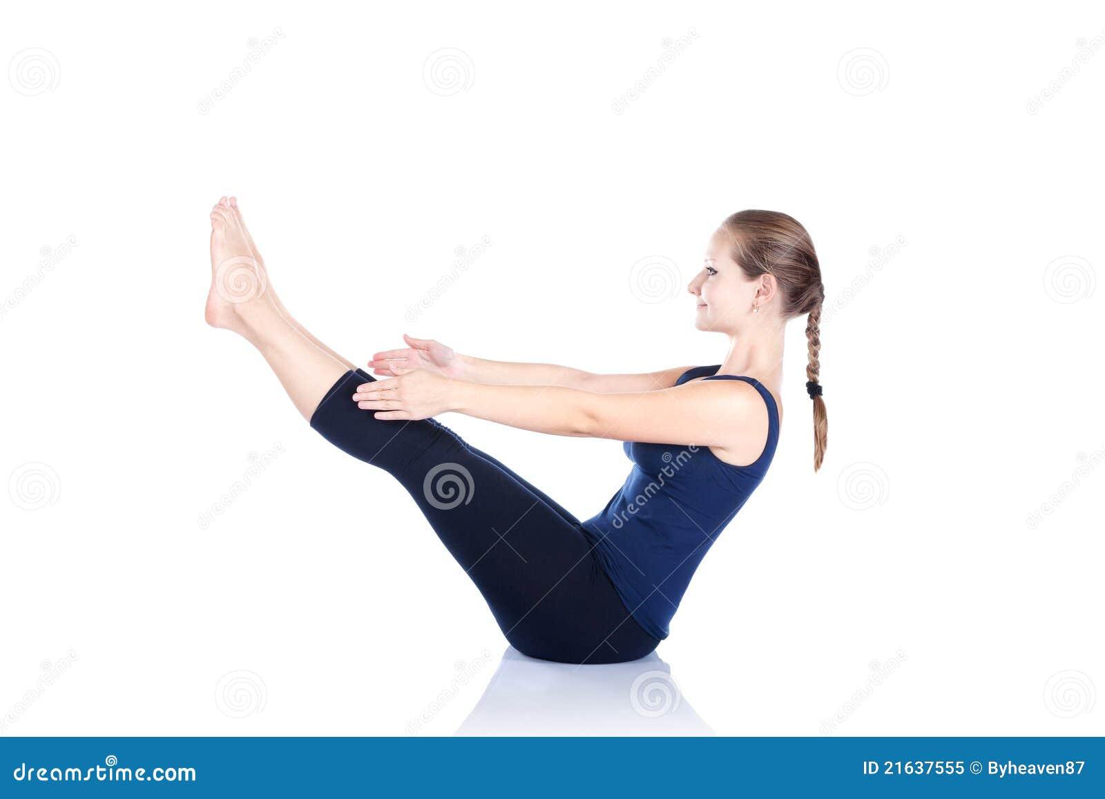 Yoga Paripurna Navasana Haltung Stockbild   Bild von exemplar ...