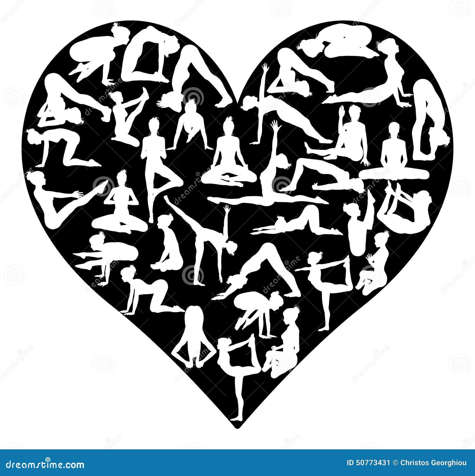 Home Design Studio Download Free Yoga Pilates Heart Stock Vector Image 50773431