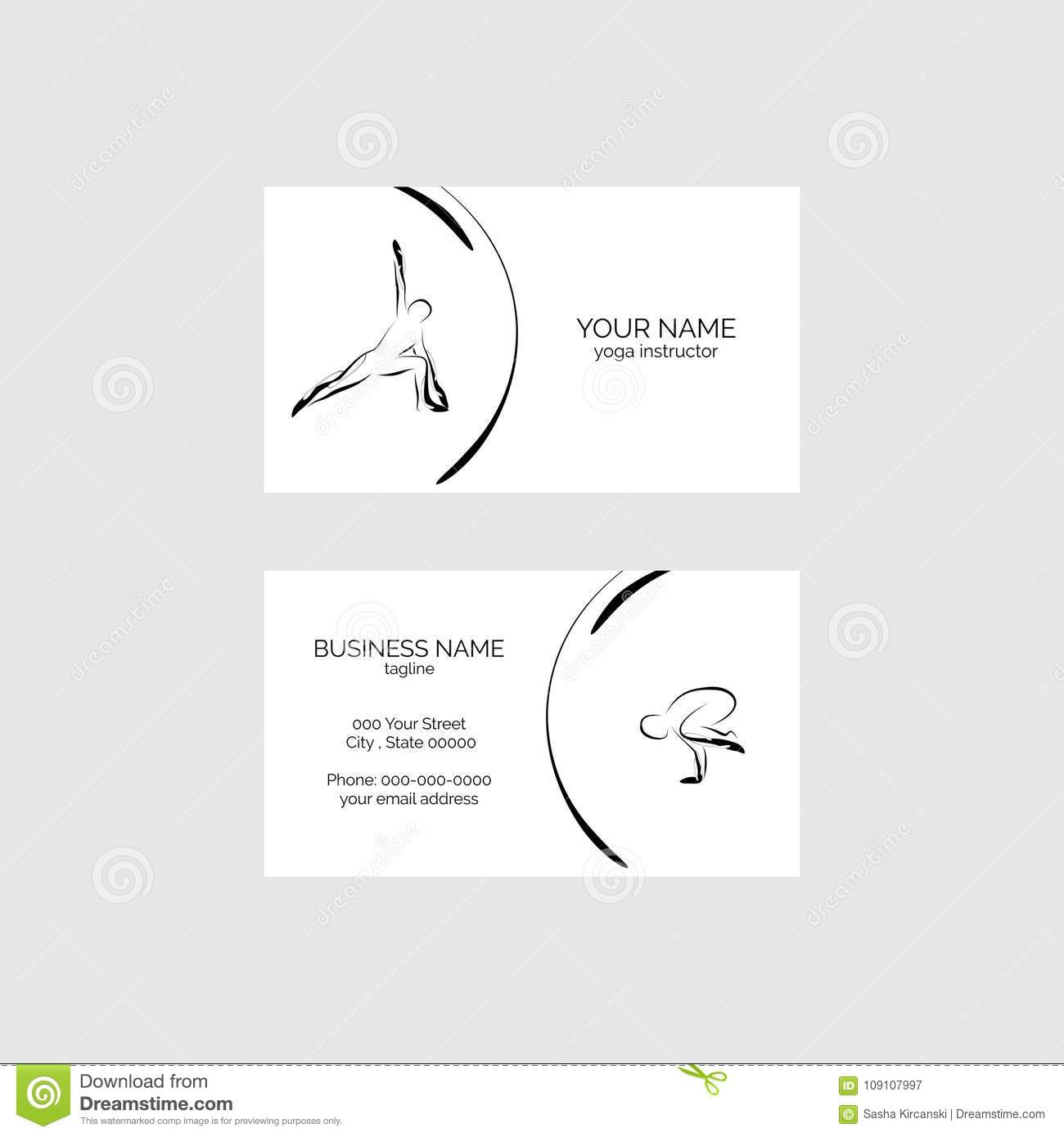 Yoga pose business card vector template stock vector illustration download yoga pose business card vector template stock vector illustration of outline sport colourmoves