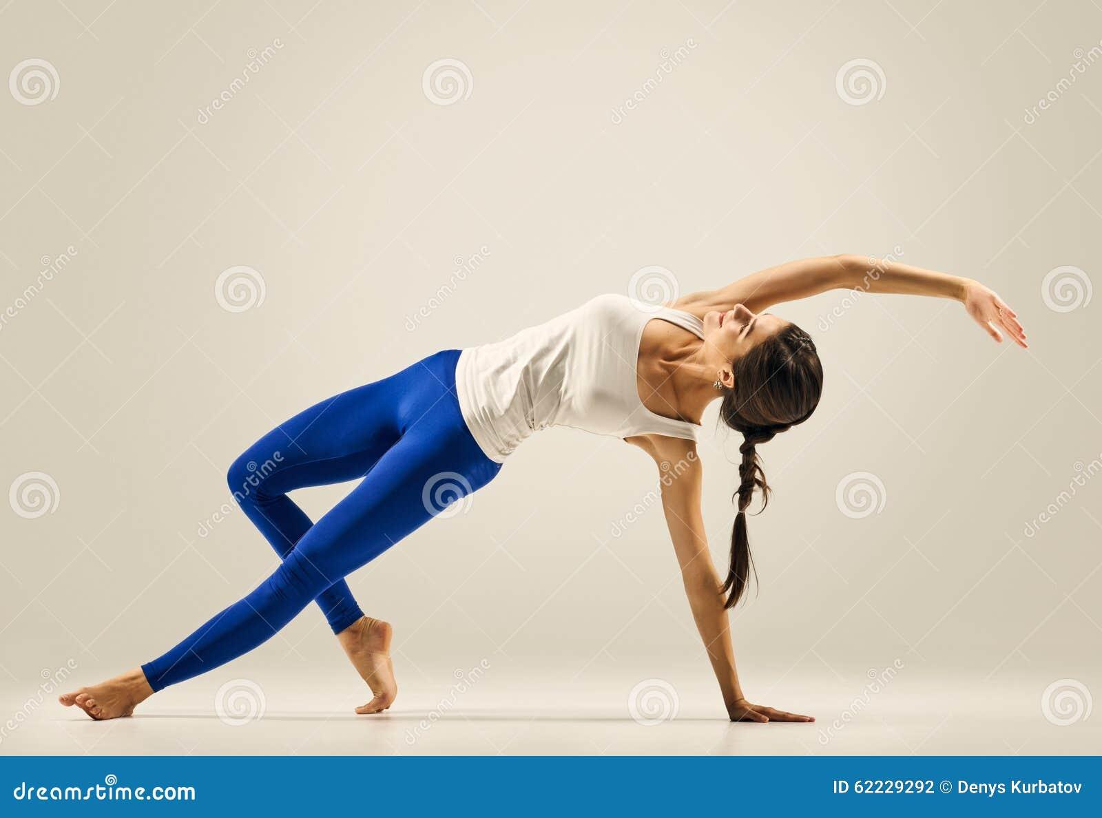 Yoga pose gymnastics bridge stock photo image 62229292 for Floor yoga poses