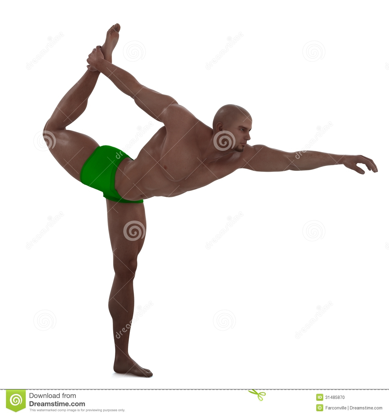 Yoga Pose Stock Illustration Of Muscle