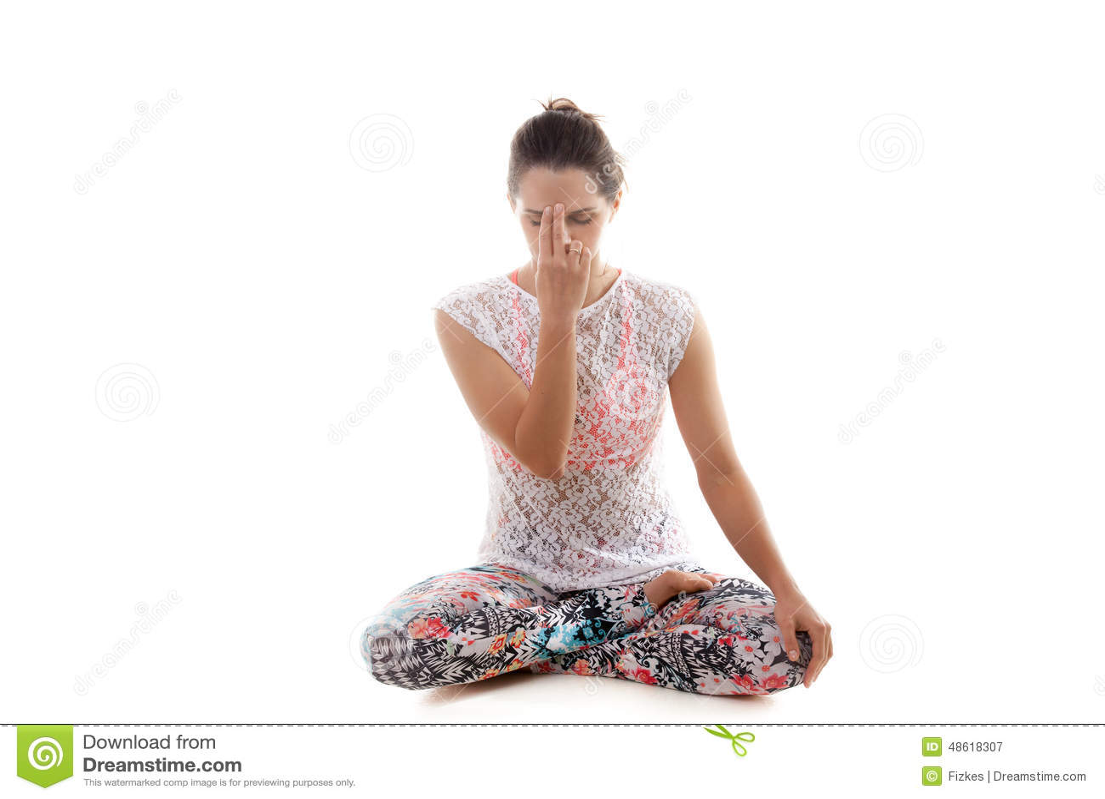 Yoga Pose Nadi Shodhana Pranayama