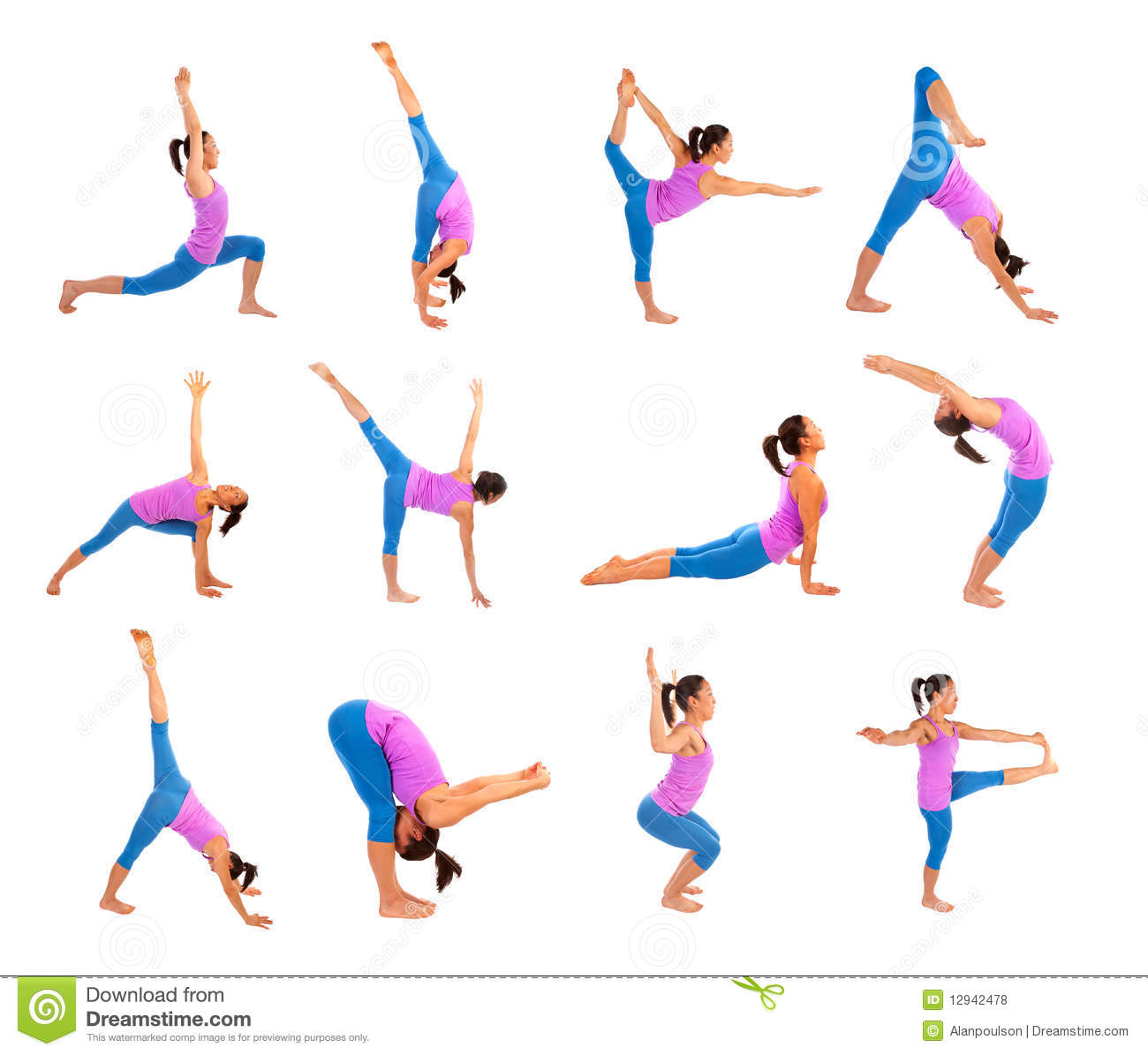 Yoga Poses Royalty Free Stock Photos - Image: 12942478