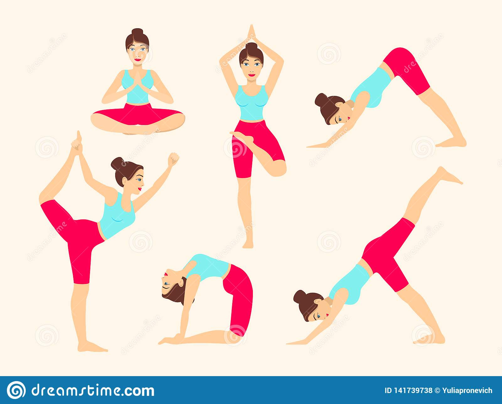 Yoga Poses Vector Free Download