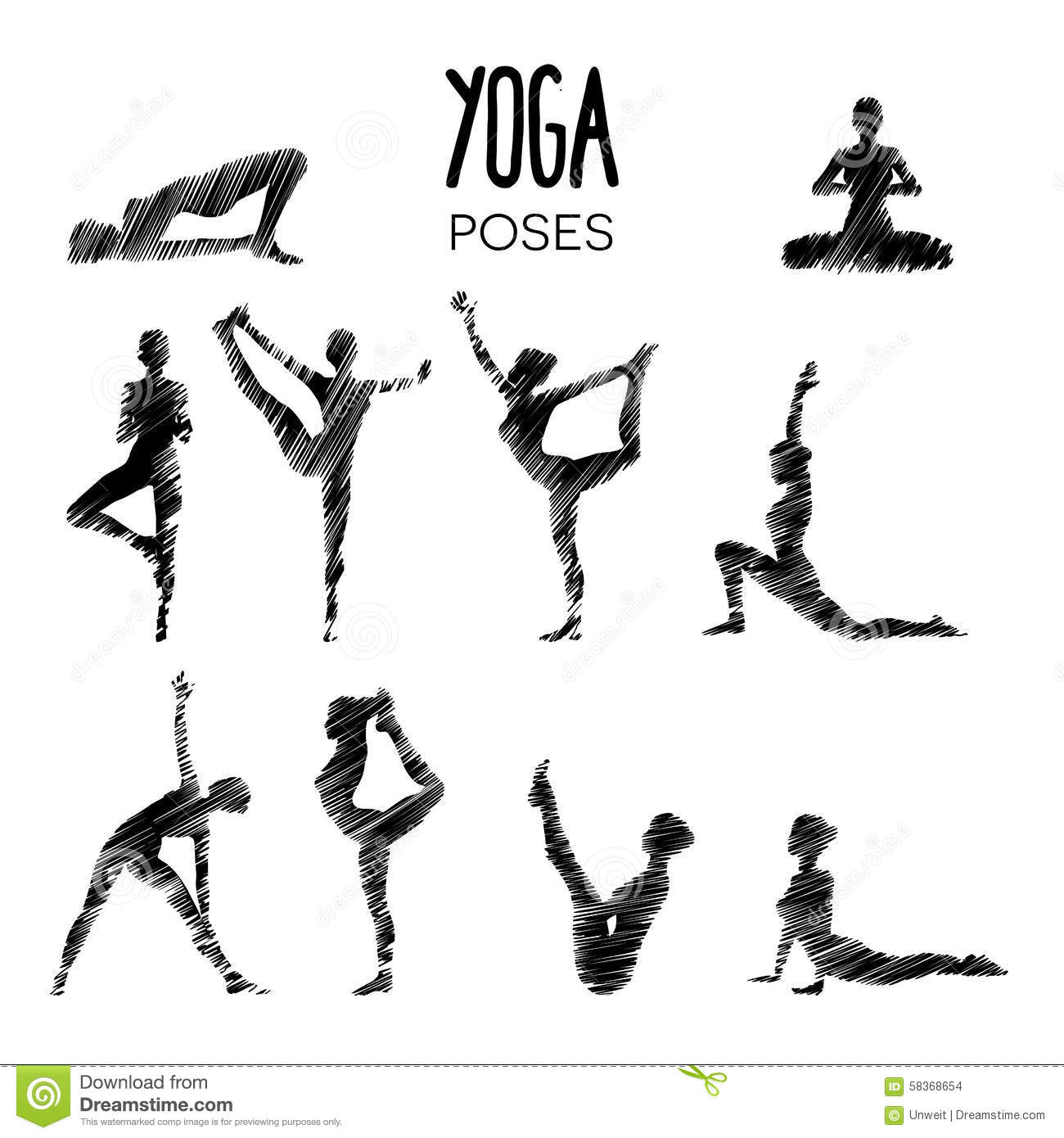 Line Drawing Yoga Pose : Yoga poses stock vector illustration of stretch energy