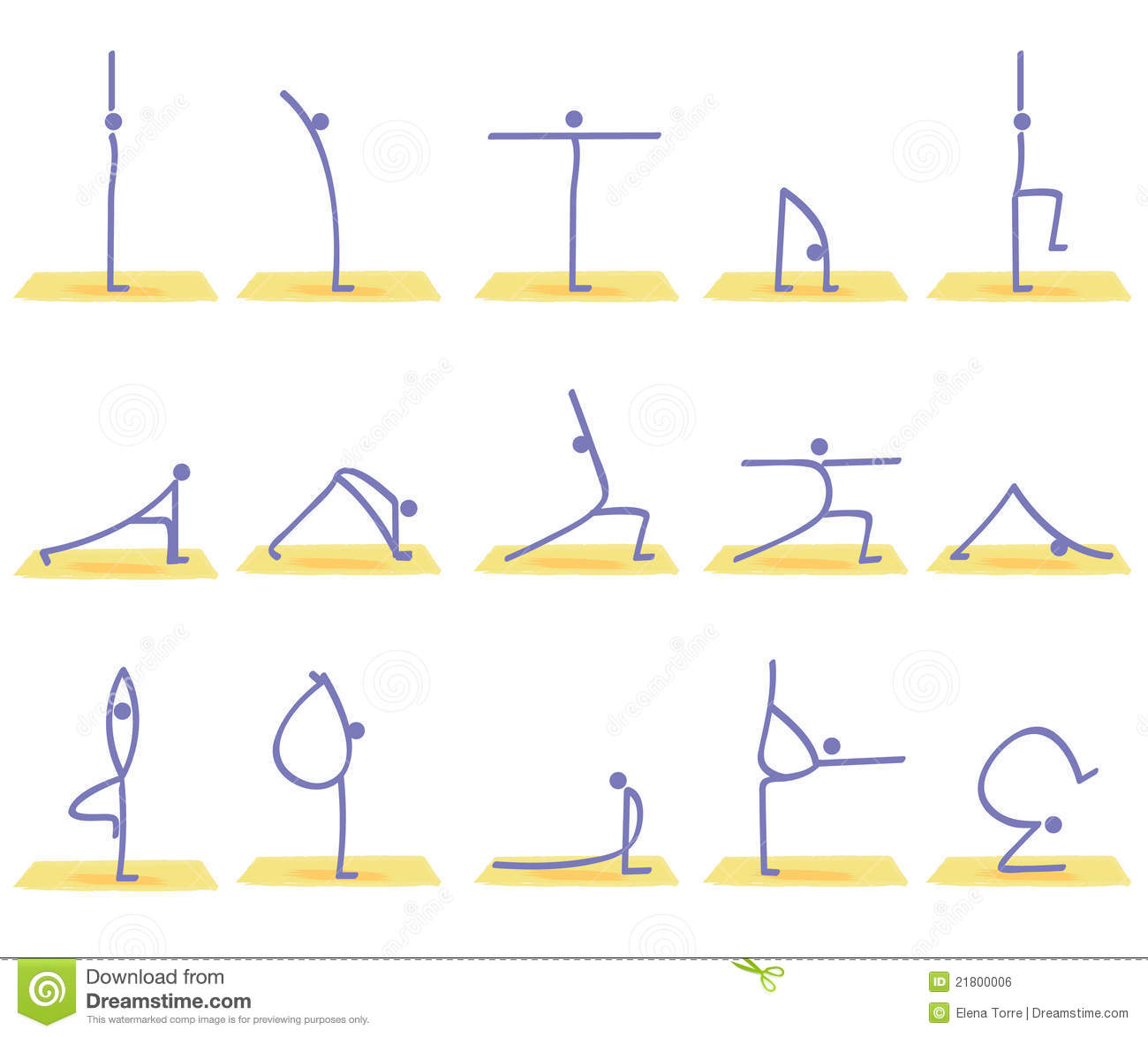 Yoga Poses Vector Royalty Free Stock Image - Image: 21800006
