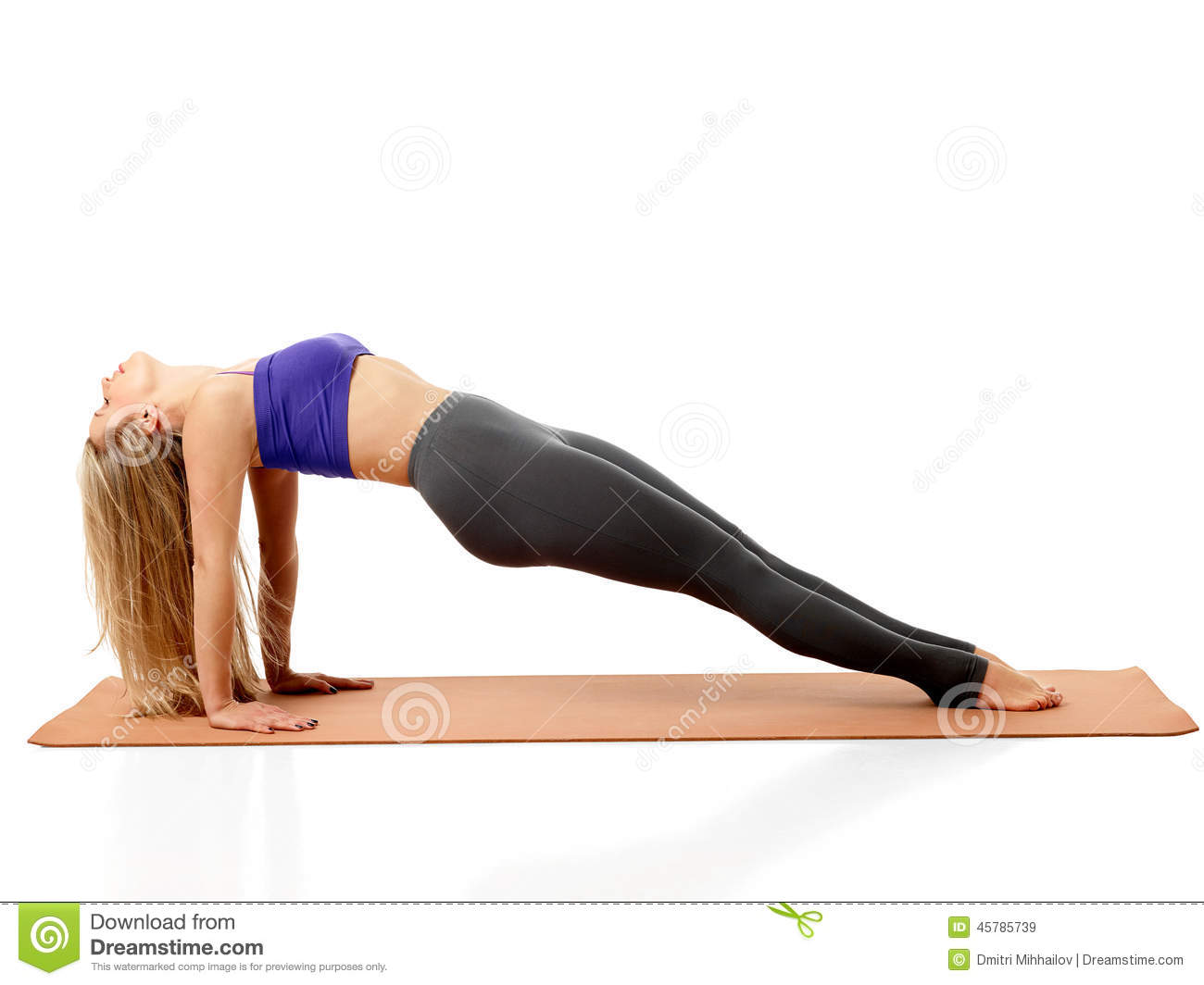 Yoga Poses Stock Image Of Professional Concentration
