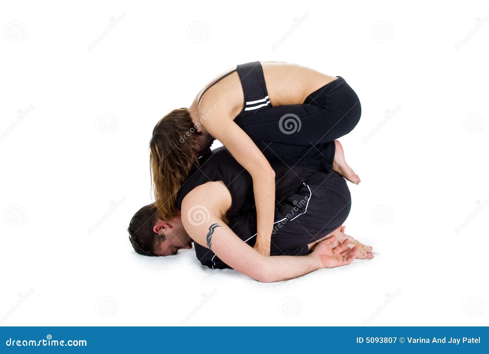yoga pour deux s rie photographie stock libre de droits image 5093807. Black Bedroom Furniture Sets. Home Design Ideas