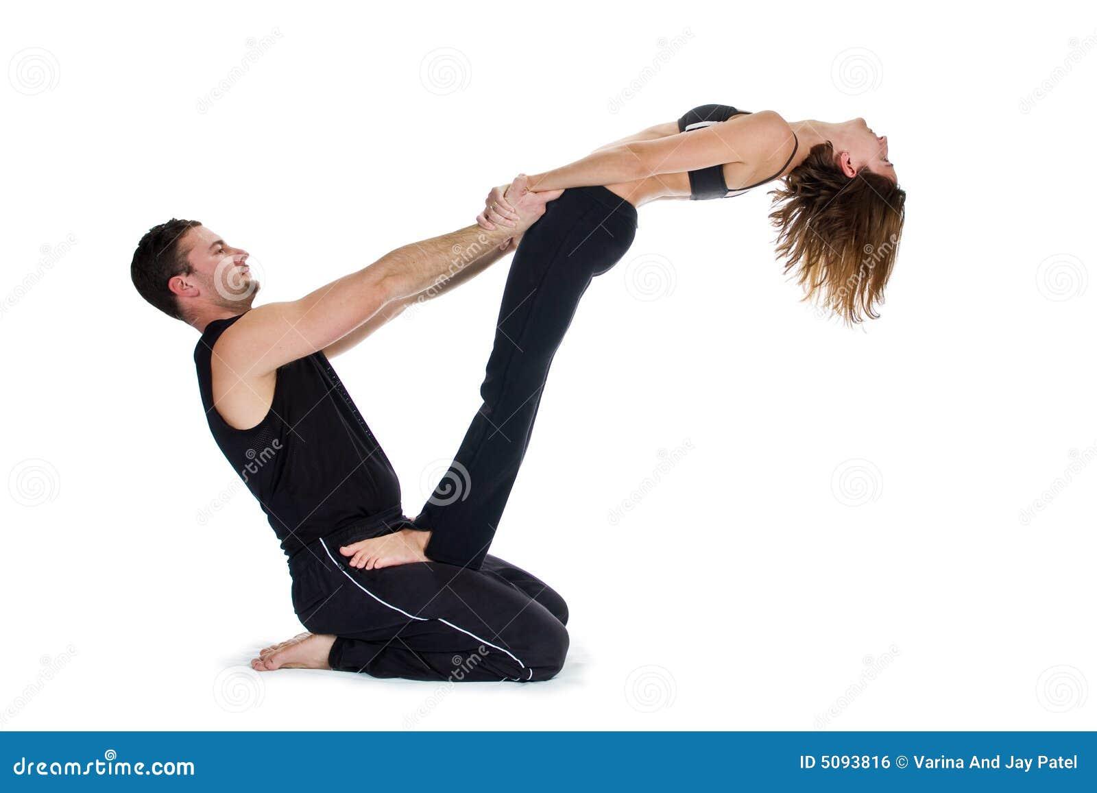 yoga pour deux s rie image libre de droits image 5093816. Black Bedroom Furniture Sets. Home Design Ideas