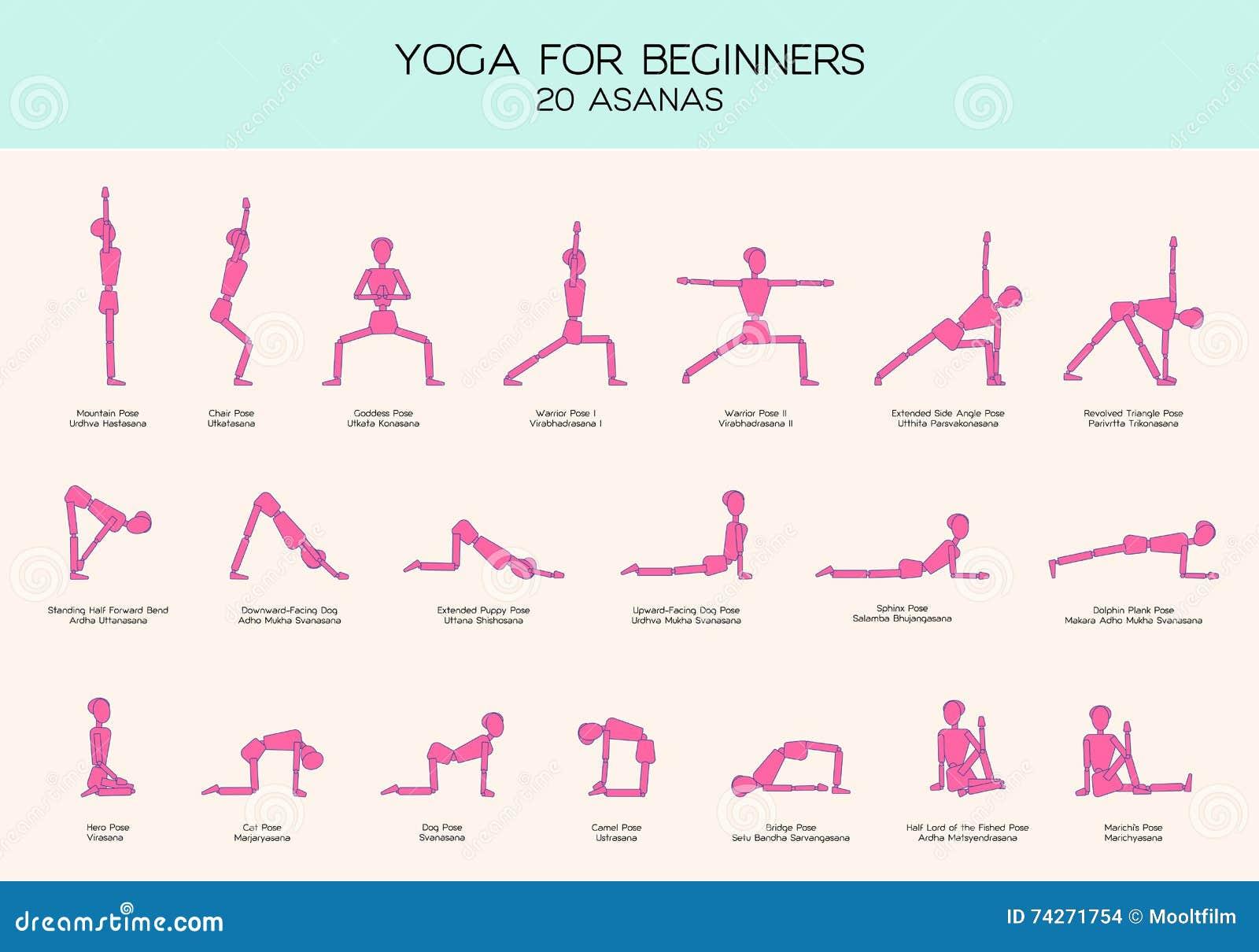 Top Yoga Pour Le Chiffre Ensemble De Bâton De Poses De Débutants  SY32