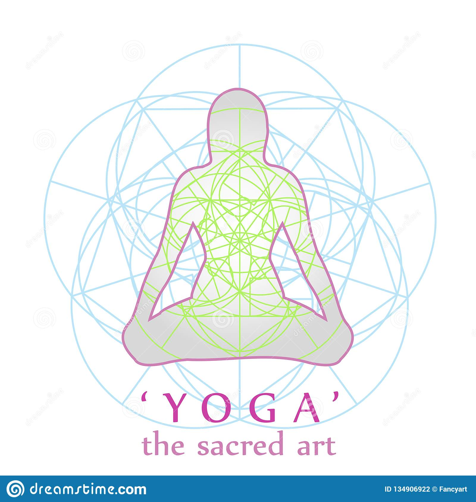 Yoga And Sacred Geometry- Peace Relaxation And Mindfulness