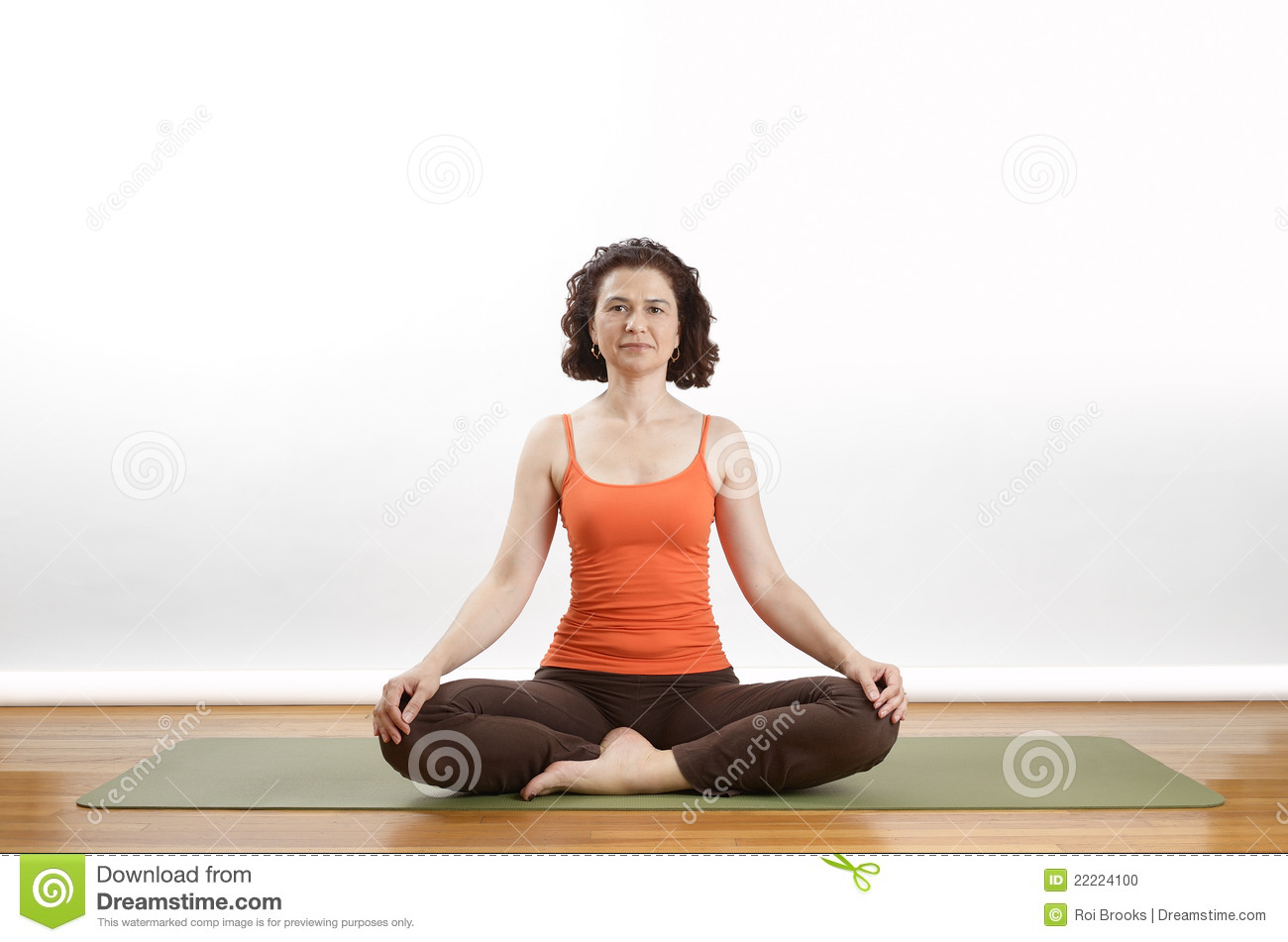 Yoga Seated Pose Stock Photo - Image: 22224100