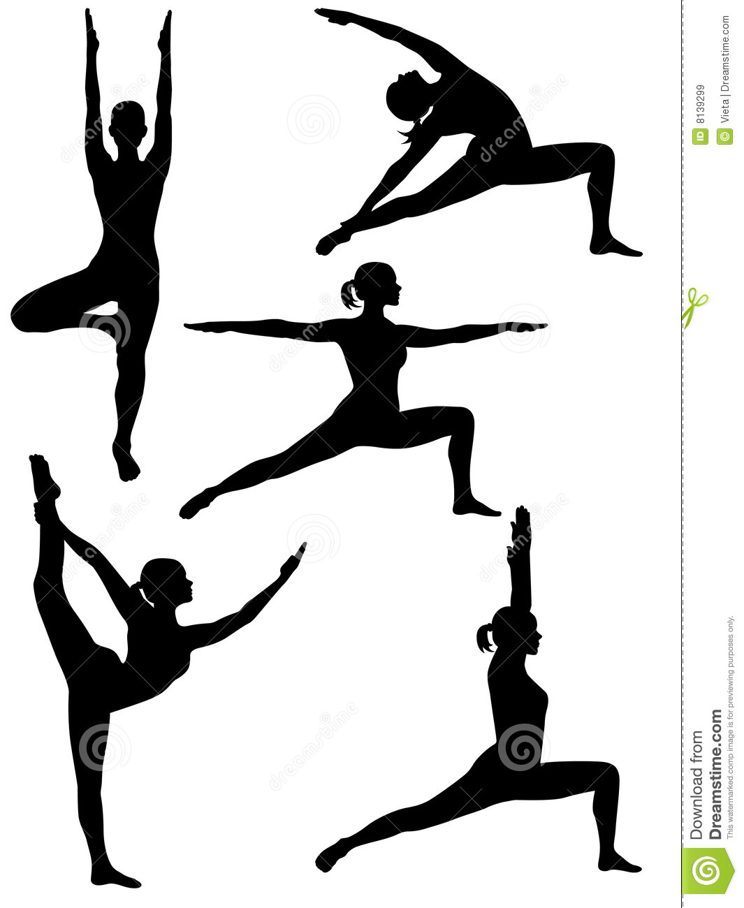 Yoga silhouette 2 stock vector. Illustration of mind ...