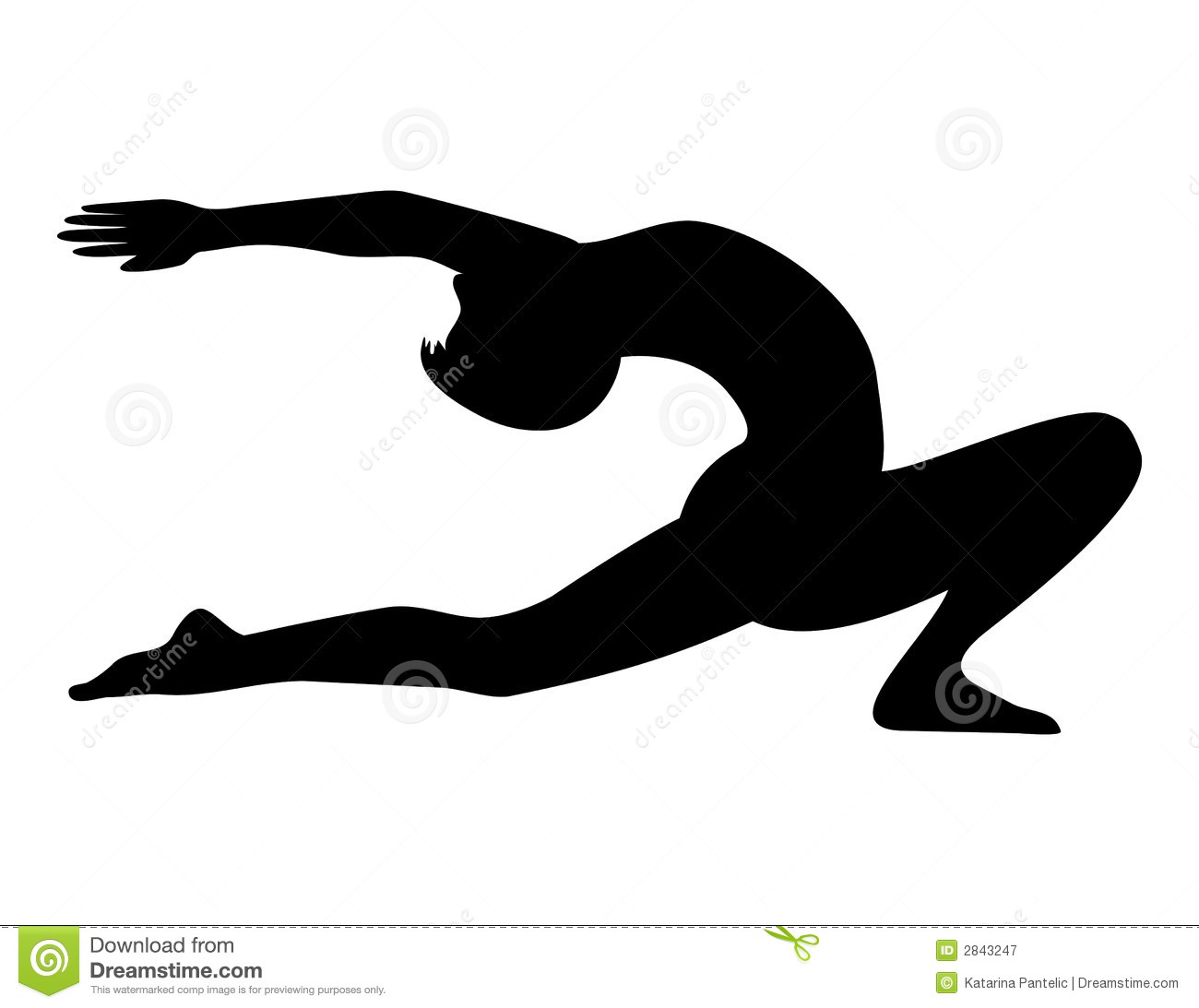 Download Yoga Silhouette Stock Vector Illustration Of Isolated
