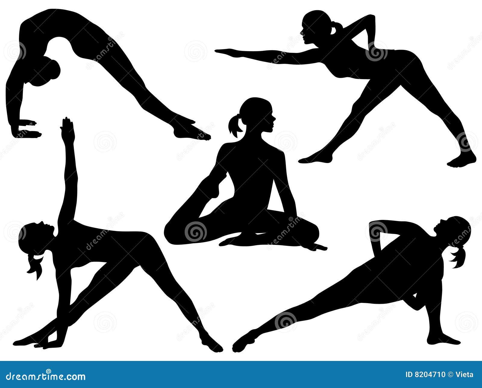 Yoga silhouette 4