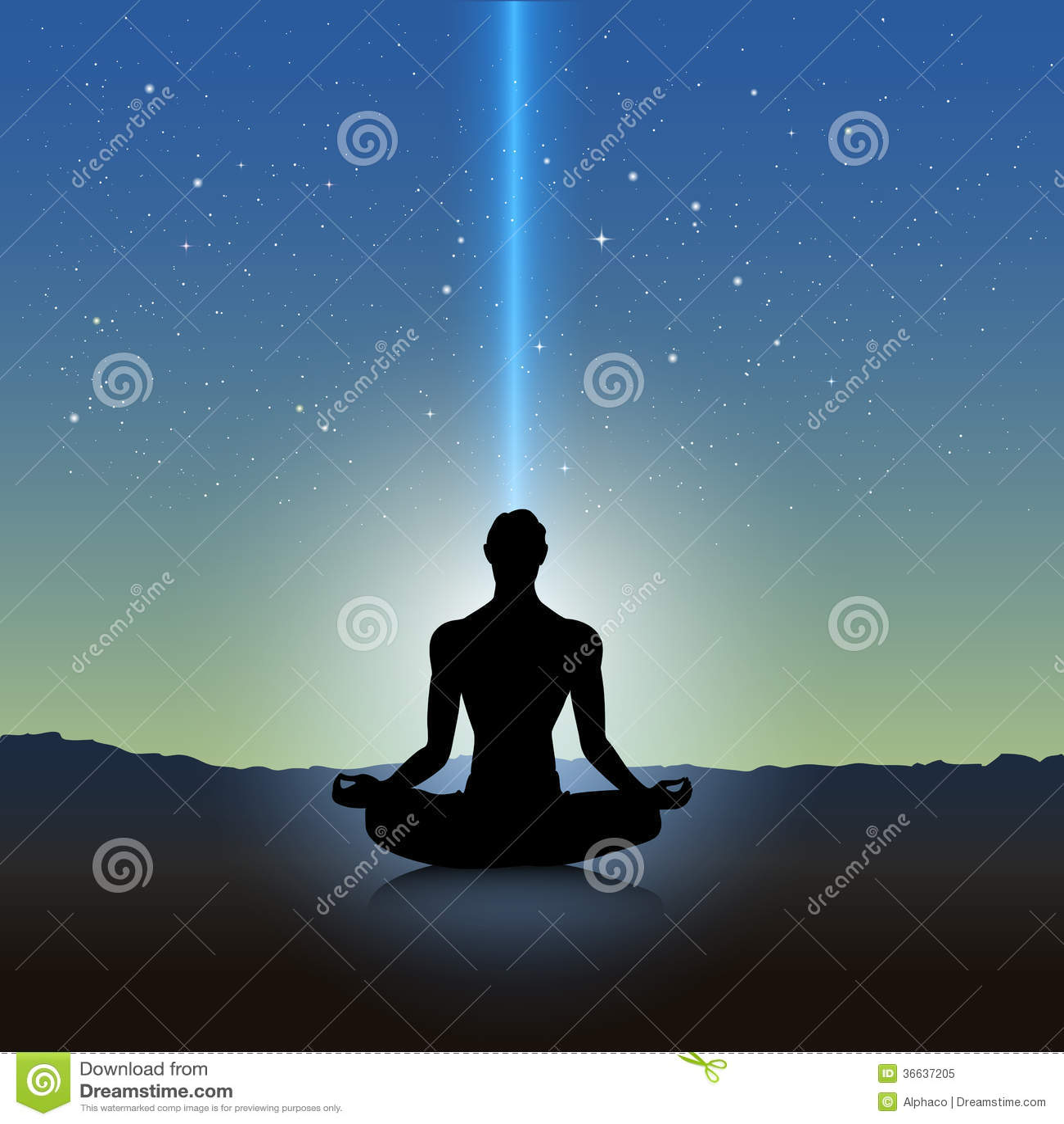 Yoga silhouetteYoga Meditation Pose Silhouette