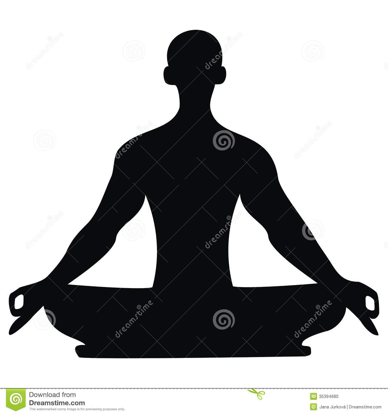 Yoga - Silhouette of a man during exercise.