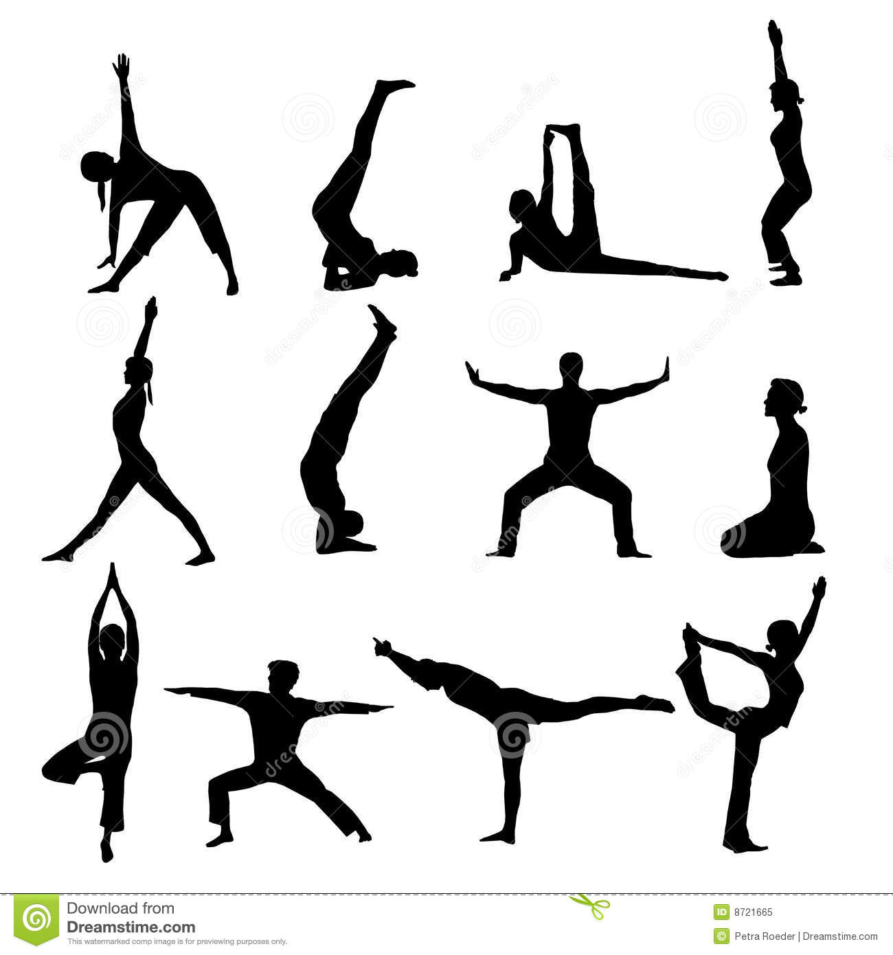 Yoga Silhouettes Stock Vector Illustration Of Artistic