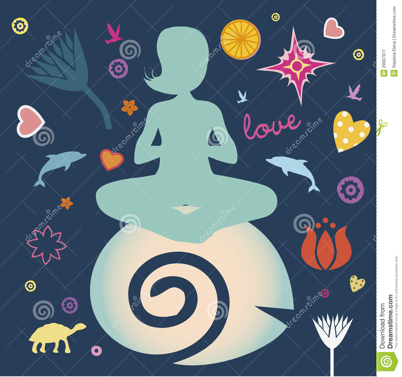 Yoga Spring Poster Stock Vector Illustration Of Astral