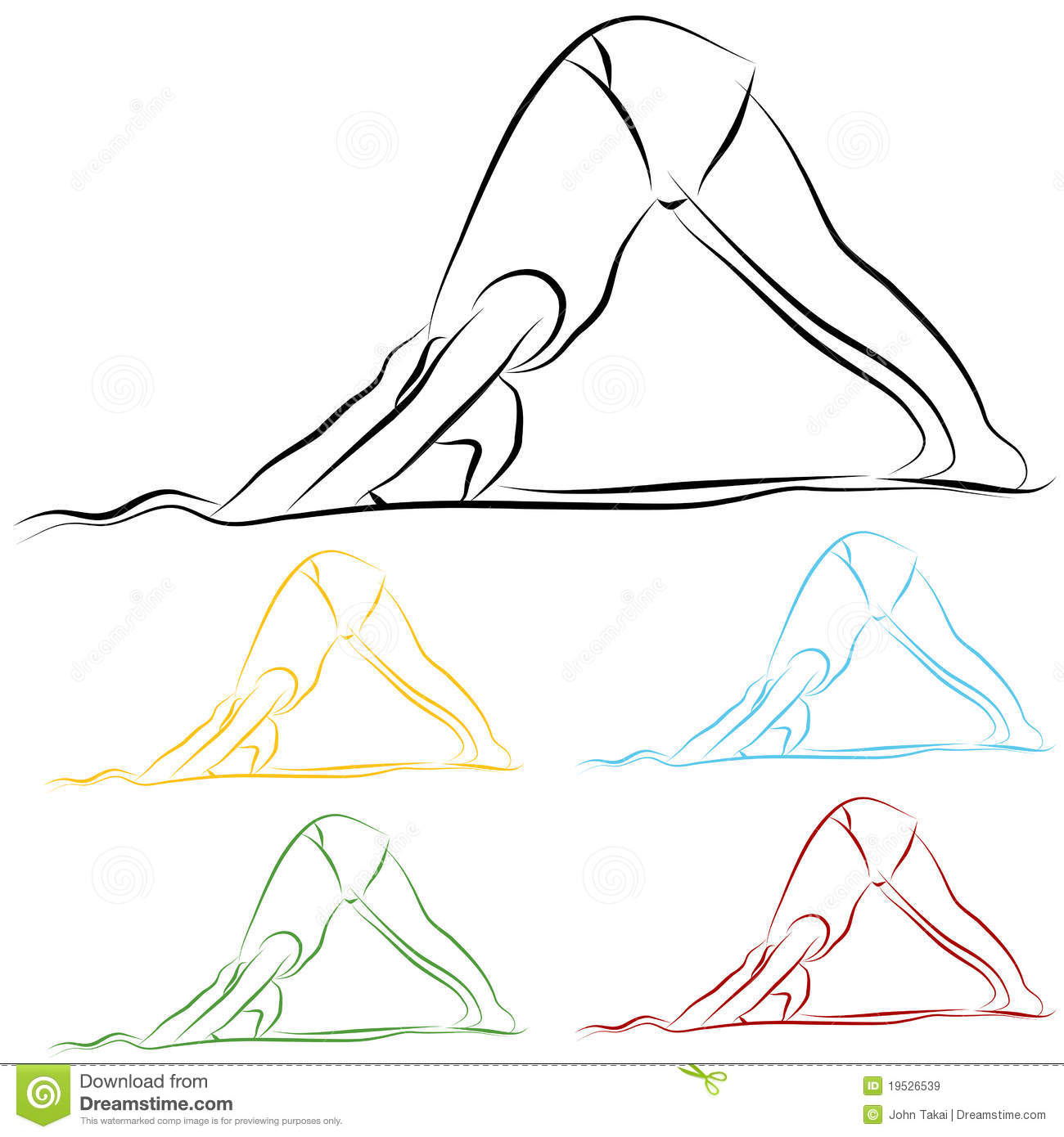 Line Drawing Yoga : Yoga stretch line drawing royalty free stock images