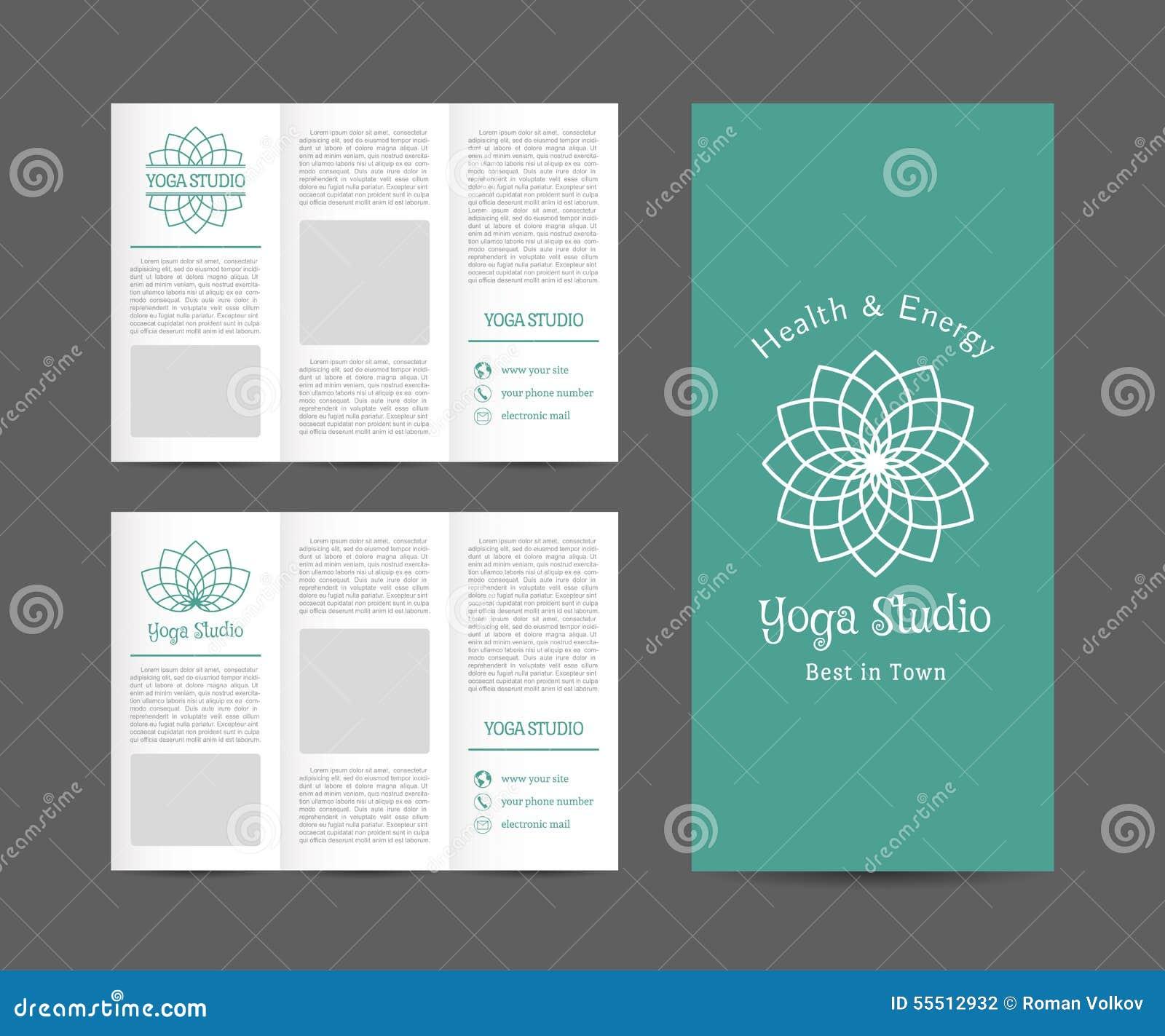 Yoga Studio Vector Brochure Template Stock Vector Illustration Of